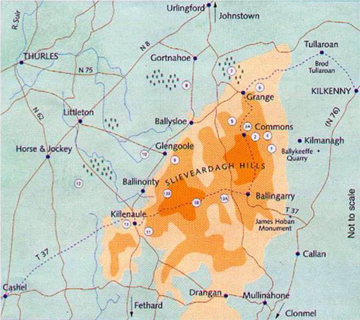 Slieveardagh Map