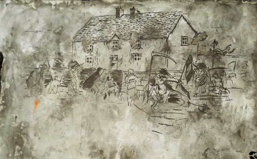 War-house-Etching
